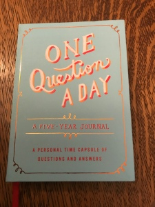 One Question a Day, a 5 year journal, photo of journal